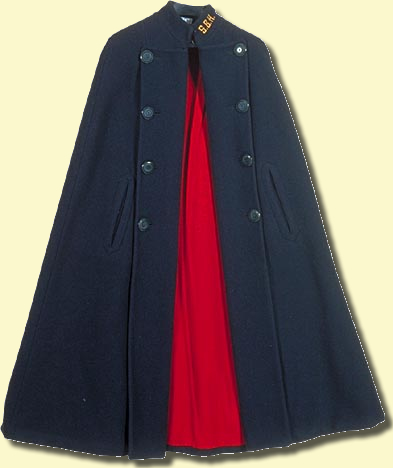 The nurse's blue cape with red lining is an enduring legacy of the Florence Nightingale era. In 1844, the Grey Nuns of Montreal sent four missionaries to start a hospital in the Red River colony of St. Boniface, near Winnipeg, Manitoba.  CMC 2000.111.381
